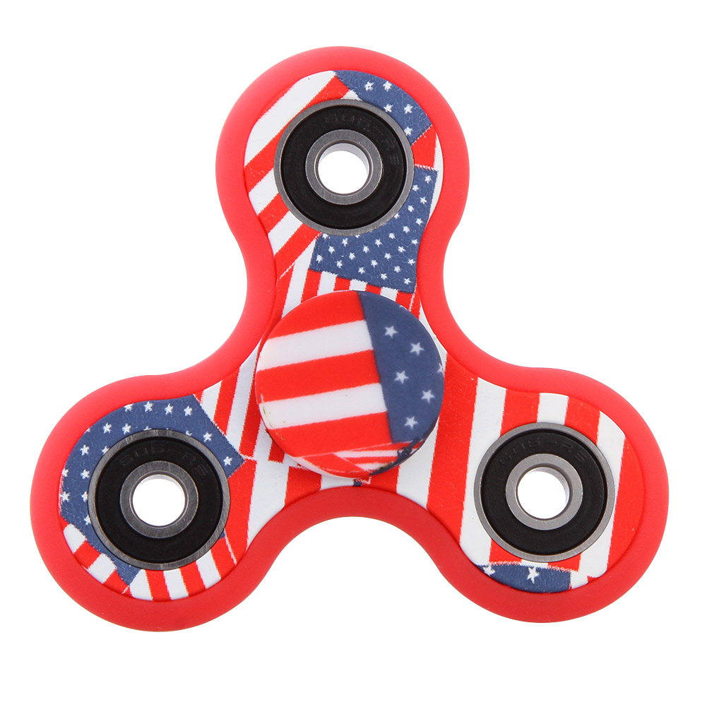 Multi Color Triangle Spinner Fidget Plastic EDC Hand Spinner For Autism And ADHD Anxiety Stress Relief Focus Toys Gift