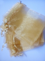 3000pcs gold organza gift bags 11x16cm party bags for women event wed Drawstring bag Jewelry Display Bag Pouch diy accessories