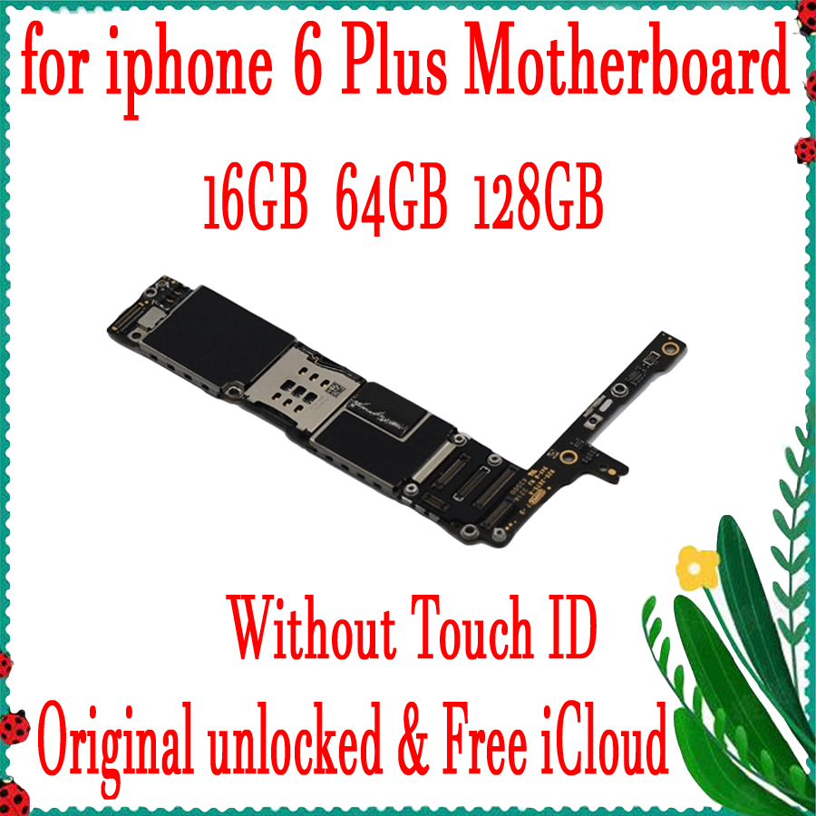 16GB 64GB 128GB factory original motherboard for iPhone 6 Plus without fingerprint without Touch ID unlocked logic board16GB 64GB 128GB factory original motherboard for iPhone 6 Plus without fingerprint without Touch ID unlocked logic board