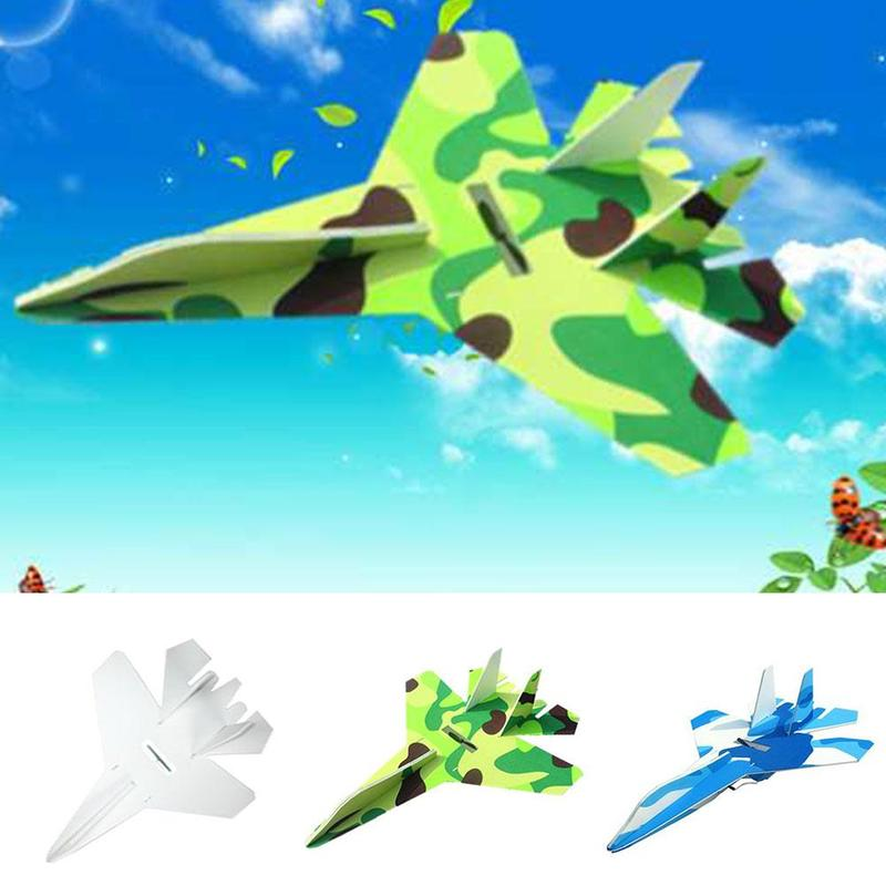33/28cm Diy Hand Throw Flying Glider Airplanes Toys For Children Foam Aeroplane Model Party Flying Glider Plane Samolot Toys image