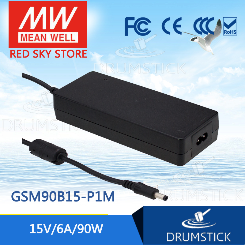 100% Original MEAN WELL GSM90B15-P1M 15V 6A meanwell GSM90B 15V 90W AC-DC High Reliability Medical Adaptor 1mean well original gsm160a24 r7b 24v 6 67a meanwell gsm160a 24v 160w ac dc high reliability medical adaptor