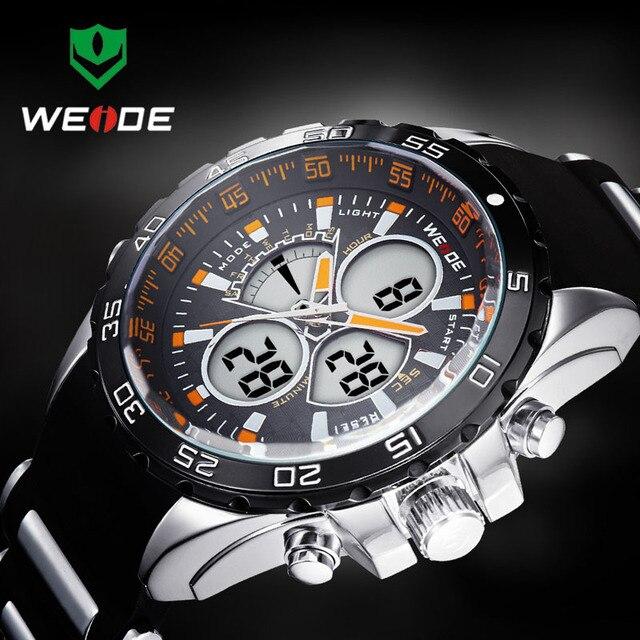 2016 New WEIDE Fashion Led Digital Orologi Al Quarzo Uomo Militare Sport Orologio Da Polso Impermeabile Maschile orologi Da Polso Relogio Masculino