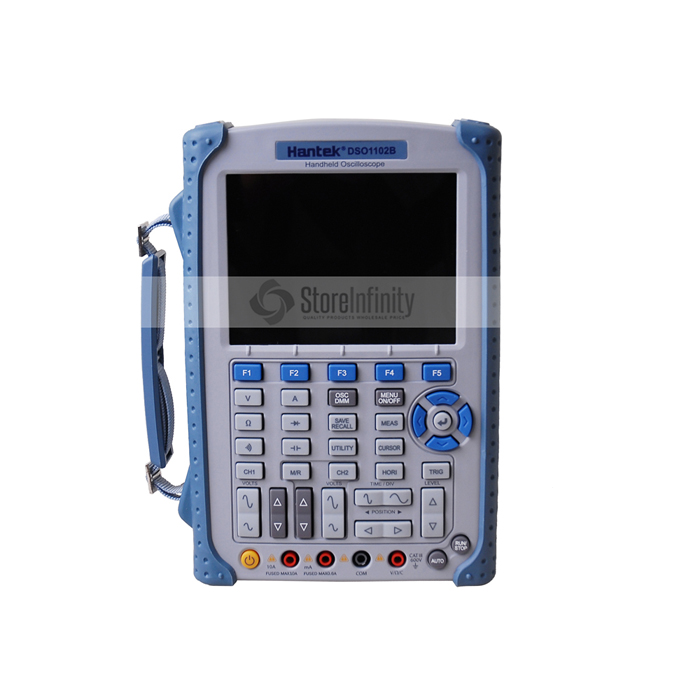 Portable Hantek DSO1102B Digital Oscilloscope USB Host Probe 5.6 TFT Color LCD Multimeter 100 MHz 1Gsa/S Handheld Automotive