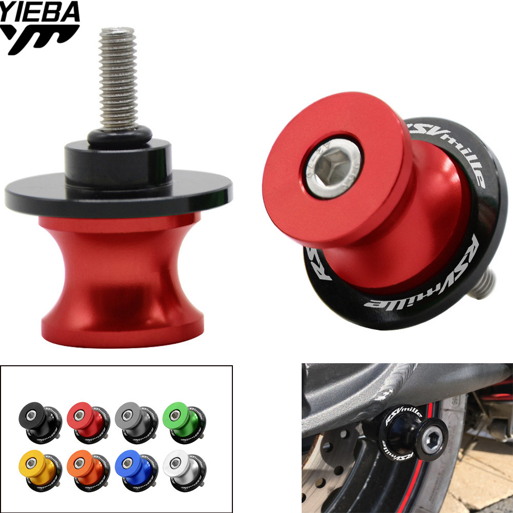 Motorcycle CNC AluminumSwingarm Sliders Spools Swingarm Stand Screws Slider Cover 6mm For Aprilia RSV MILLE S / R 1999-2008