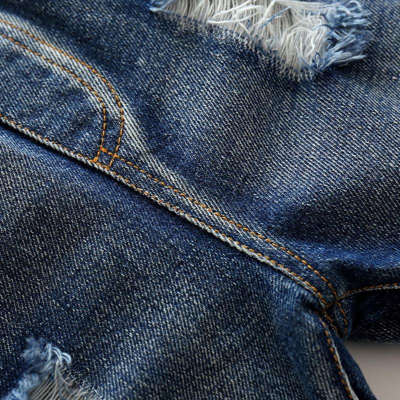 Hole Jeans For Boys Elastic Waist Kids Denim Trousers Kids Cowboy Harem Pants Solid Boy Jeans 2017 Spring Children Jeans 2-6 Y  (3)