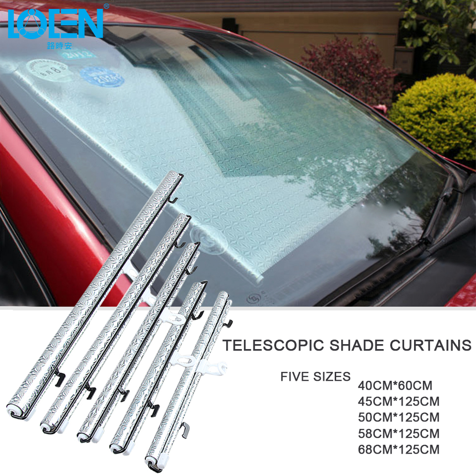 68 58 40 Car Window Sunshade Reflective Heat insulating Anti-UV Retractable Windshield  Sunshade Windscreen Cover Auto Sun Shade 99e1d527344