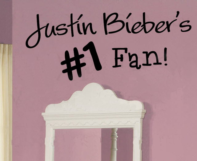 Justin Bieber Fan Wall Art Decals Home Decoration Wallpaper Quote Bedroom  Wallstickers Murals Part 23