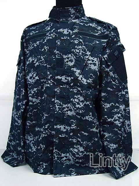 US Navy BDU Field Uniform Set Digital Navy Blue Camo Army