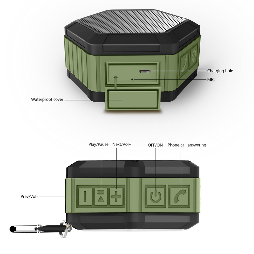 Image 4 - IP65 Waterproof Bluetooth Speaker Subwoofer Powerful Mini Portable Wireless Speaker For Outdoor Phone Play Music Box-in Portable Speakers from Consumer Electronics