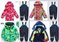 Chuva de vento de alta qualidade marca o desgaste das crianças do estilo do inverno crianças crianças espessamento terno de esqui-desgaste, roupas de esqui