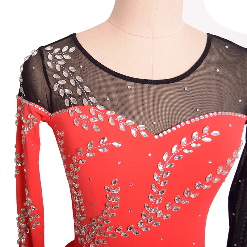 Nasinaya Figure Skating Dress Customized Competition Ice Skating Skirt for Girl Women Kids Performance Water Drop Rhinestones in Gymnastics from Sports Entertainment