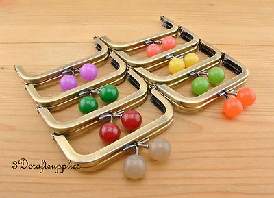 4 inch metal frame colorful bobble coin Anti brass purse frame (8 color ) Z85