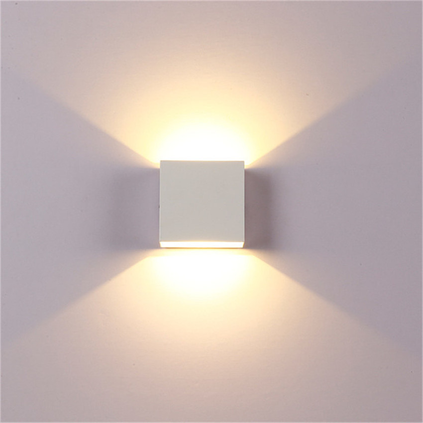 LED Wall Lamp IP65 Waterproof Indoor & Outdoor Aluminum Wall Light Surface Mounted Cube LED Garden Porch Light NR-155 4