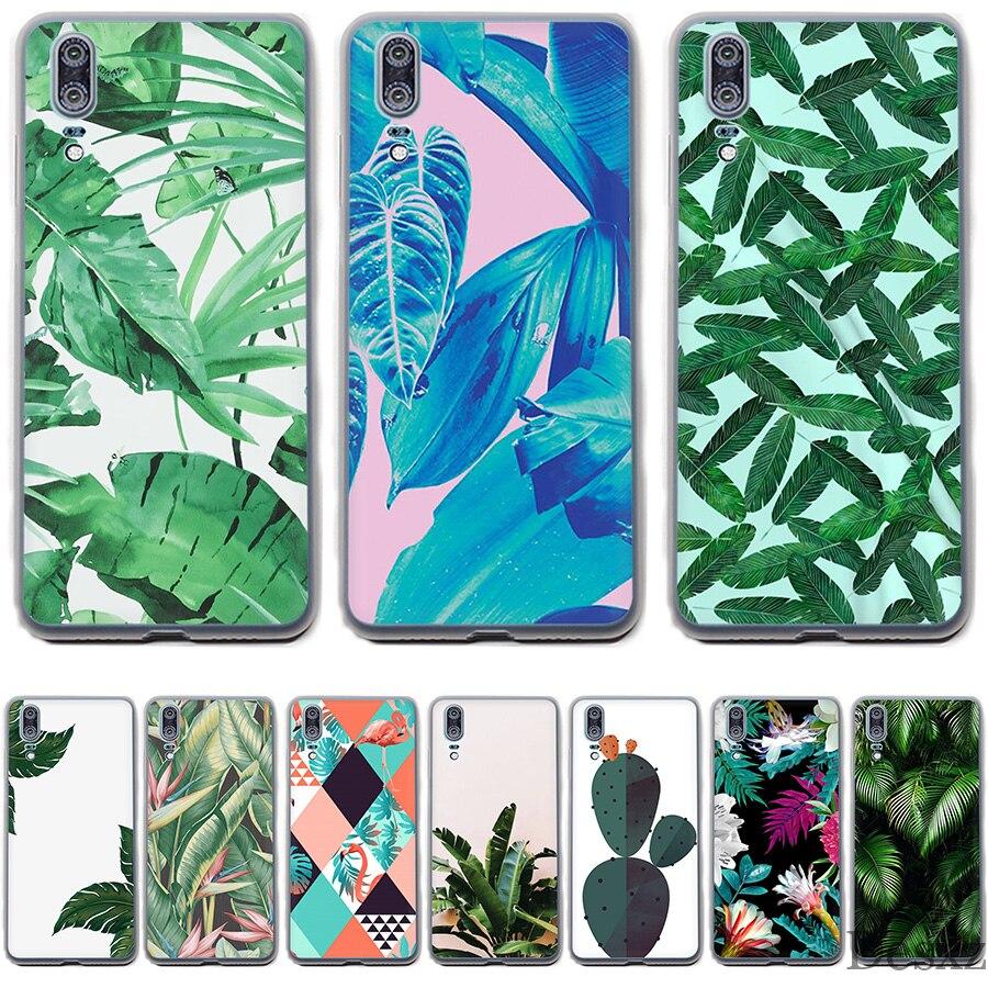 Phone Case Tropical Plants Cactus Banana Leaves For Huawei Mate 10 20 Pro Lite  Nova 3 3i Y6 Prime 2018