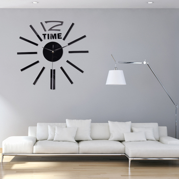 3D Real Big Wall Clock Rushed Mirror Wall Sticker DIY Living Room Home Decor Fashion Acrylic Watches Arrival Quartz Wall Clocks 1