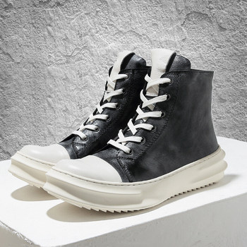 in winter a new pair of pointed boots stone grain red nightclub knighthood and the boot of the calf side zipper boots woman s 2020 New! Mens Winter Mid-calf Boots Full Grain Leather Thick Heel  Winter Snow Boots Man Heighten Shoes