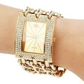 Classic Luxury Gold Plated Steel Quartz Dress Watches For Women Fashion Casual Watch Women Wristwatch