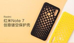 Image 2 - Original xiaomi redmi note 7 case cover note7 matte hard pc protective breathable backhole case coque redmi note 7 pro cover