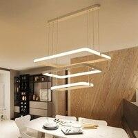 LEVOU Arte Pós-moderna Simples Lustre personalidade Criativa sala de estar lâmpadas Retangular casa de jantar sala de estudo de iluminação