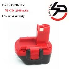 Горячая продажа!!! новый Замена Мощный Инструмент Батареи 2.0Ah Ni-CD 12 В для Bosch: BAT043, 26073 35395, BAT045, 26073 35430, BAT049