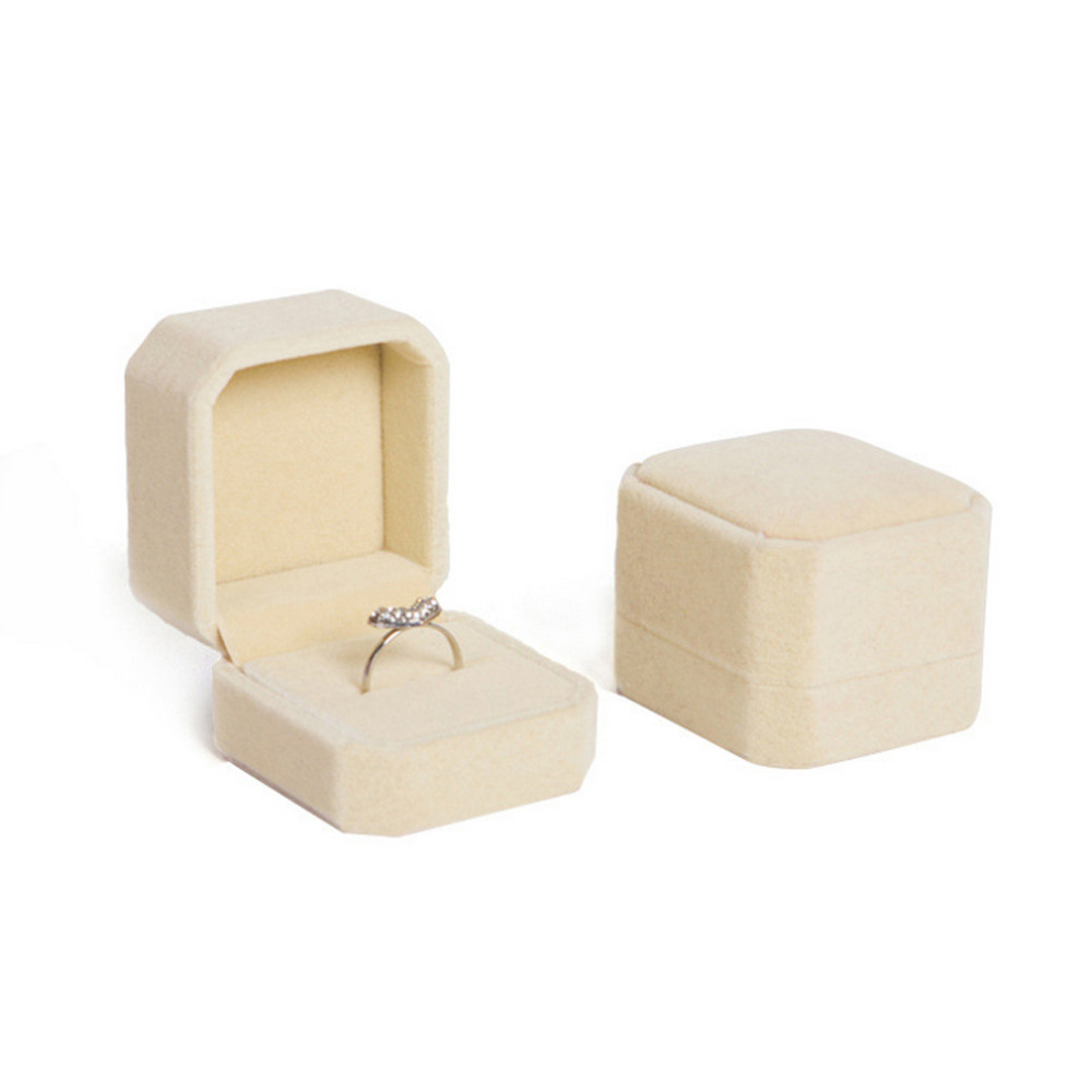 Hot sale Velvet Ring Box !Free Shipping 10Pcs Romantic Wedding Jewelry Display Gift Case Packaging