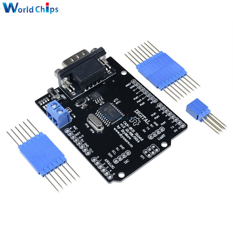 US $4 06 19% OFF 1Set MCP2515 Can Bus Shield Board SPI Interface 9 Pins  Standard Sub D Connector Expansion Module DC 5 12V For Arduino Seeeduino-in