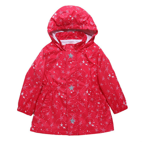 New 2019 spring autumn children kids jackets outwear baby girls waterproof windproof jackets double-deck stars jackets Karachi