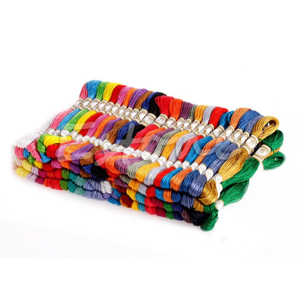 1Set 100 Different Colors Cross Stitch Floss Cotton Thread Embroidery Sewing in Floss from Home Garden