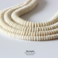 Wholesale 108pcs/lot 6/8/9/12mm Tagua Nut Crafted Flat Beads Ivory White Wooden Rondelle Unique Jewelry Beads DIY Accessories