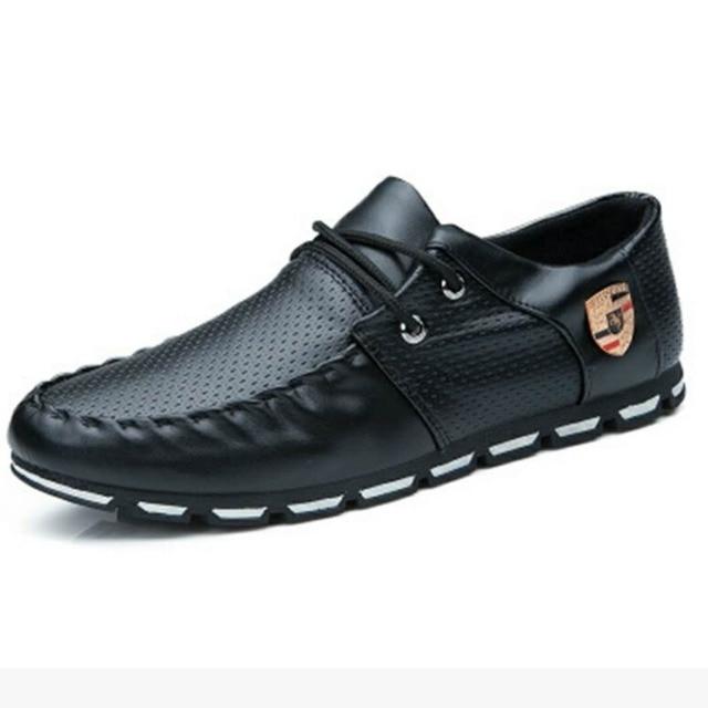 Sports driving shoes men's flat non-slip casual shoes Italian flat shoes 2019 Korean version of men's pea soft shoes 1