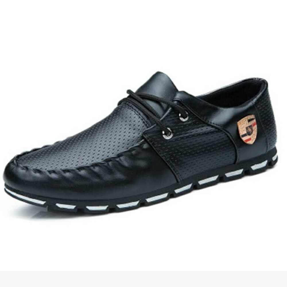 กีฬารองเท้าผู้ชายลื่นรองเท้าอิตาเลี่ยนรองเท้าแบน 2019 เกาหลีรุ่นชาย pea รองเท้านุ่ม