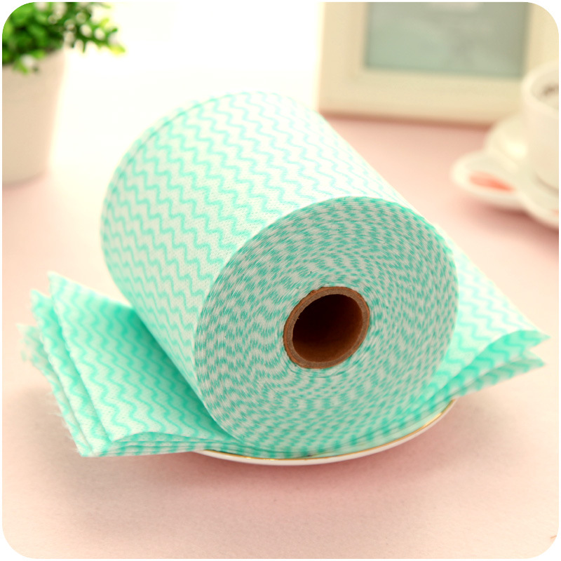4roll Hot Disposable Breakpoint Non Woven Kitchen Towels Cleaning Cloth 20m Roll Gles Dish Wipes Trapos Cocina F4741m 4 In Face From Home