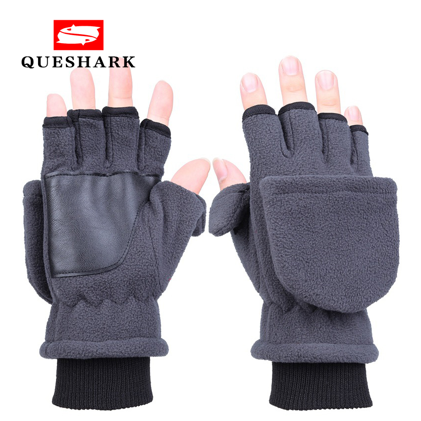 Adult Men Women Fishing Gloves Double Layer Warm Thickened Non-slip Touch Screen Half Finger Cycling Ski Snowboard Snow Mittens