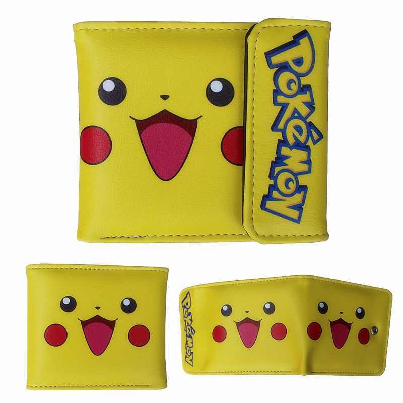 Attent 11*10*2 Cm Mode Unisex Pu Lederen Korte Purse 3d Gedrukt Pokemon Pikachu Cartoon Anime Hasp Portemonnee Card Foto Dollar Houders