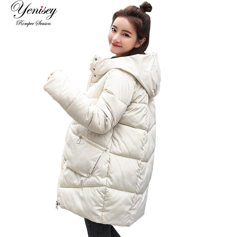 Parka mulheres 2019 jaqueta de inverno casacos com capuz feminino parka grosso oversize acolchoado forro inverno feminino casacos yy8801