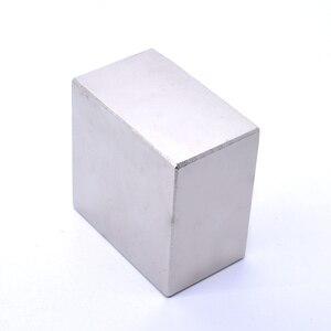 Image 2 - N52 1PCS 블록 50x50x30mm 슈퍼 강한 희토류 자석 네오디뮴 자석 (3 크기: 50x50x30mm 또는 50x50x25mm 또는 40x40x20mm)