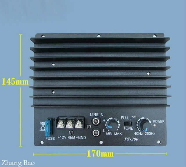 Special Offers LH12V thermal power amplifier car subwoofer power amplifier board finished bass sound conversion