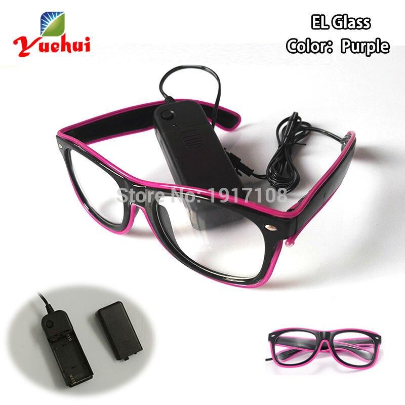 10 색 선택 깜박이 EL 와이어 안경 축 파티 조명 다채로운 빛나는 LED 안경 축제 선물 파티 장식