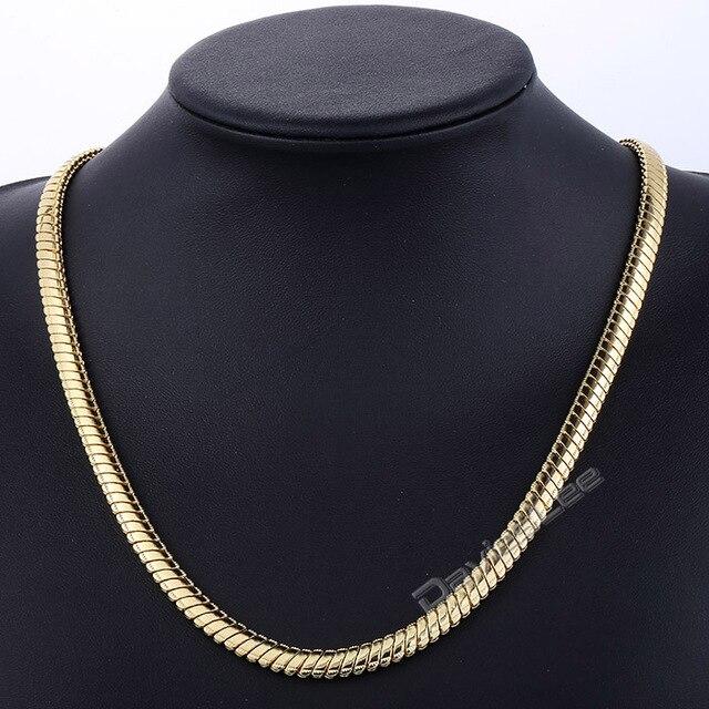Davieslee 7mm Herren Damen Kette Mirror Snake Rose Gold Filled Halskette  Fahsion Schmuck DLGN422-DLGN423 7b8e34970a