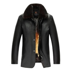 2017 brand men genuine leather jacket winter coat mink fur liner black brown simple business style.jpg 250x250