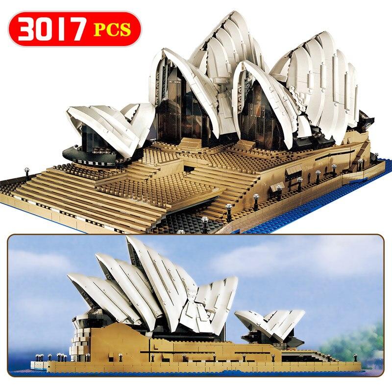 Создатели Совместимость LegoINGLYS архитектуры города Сиднейский оперный театр Модель Строительство комплекты блоки KidToy кирпич игрушки для де...