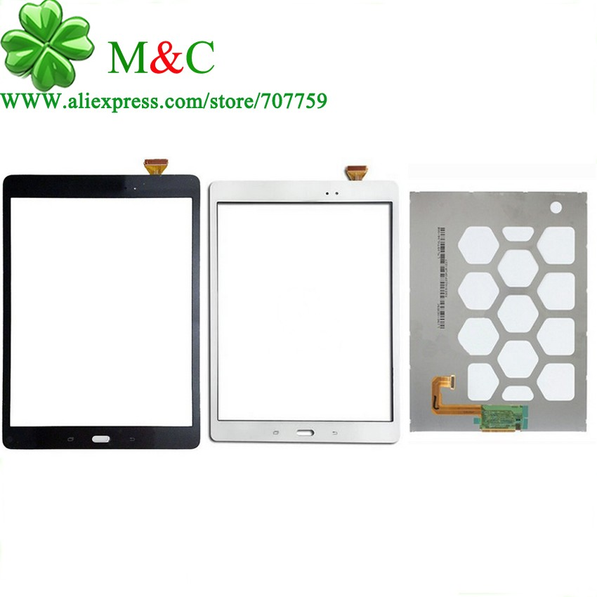 KUJOOY Original T550 T555 LCD Touch Panel For Samsung Galaxy Tab A 9.7 T550 T551 T555 LCD Display Touch Screen Digitizer Panel