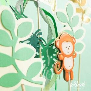 Image 4 - Топпер для торта с изображением жирафа обезьяны животных, золотые буквы на день рождения, украшения для детского дня рождения, для вечевечерние НКИ мальчика и девочки, милые подарки для выпечки