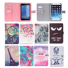 10″ PU Leather Case Cover For DNS AirTab P110w 10.1 inch Tablet Print Case Universal Stand Flip Covers Sleeve+flim+pen SC553Y