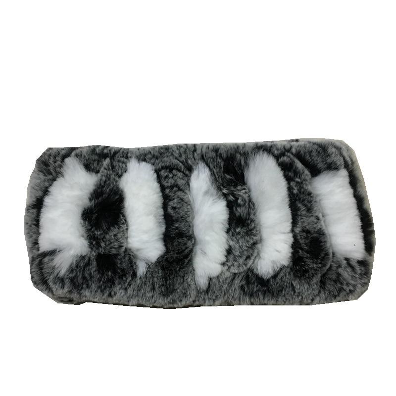 Topfurmall Lady Fashion Autumn Winter Genuine Rex Rabbit Fur Neck Rings Women Fur Head Band Scarves Wraps Lf5013