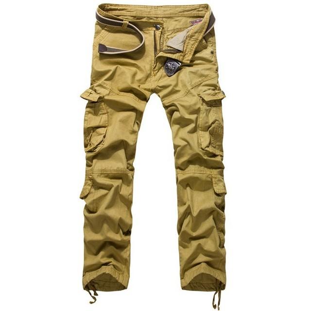 Joggers Pants 2017 New Men's Cargo Pants Military Style Casual Hip Pop  Trousers Military Pantalon Homme LP8