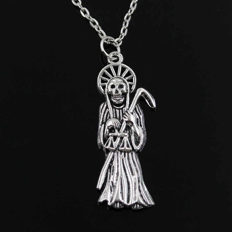 Simple Classic fashion grim reaper death Antique Silver Pendant Girl Short Long Chain Necklaces Jewelry for women