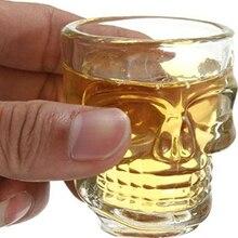 4 шт Череп лицо Тяжелая база виски рюмки, вечерние напитки Питьевая Посуда для бренди
