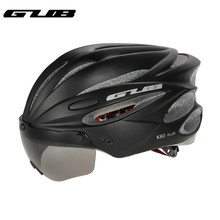 GUB K80 Bicycle Helmet Men Women 58-62cm Safe Helmets MTB Mountain Road Bike Integrally Molded Cycling Helmets With Glasses batfox 7 colors ultralight cycling helmet for women men integrally molded road mountain bike mtb riding bicycle helmets 56 62cm
