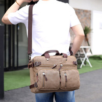 2019 Large Capacity Men Travel Bags Travel Tote Canvas Male Multi function Travel Handbags Shoulder bucket Travel Business Bags